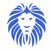 gallery/lion tete bleu